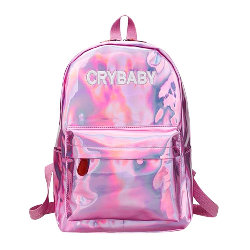 Mini Travel Bags Silver Blue Pink Laser <font><b>Backpack</b></font> Women Girls Bag PU Leather Holographic <font><b>Backpack</b></font> School Bags for Teenage Girls
