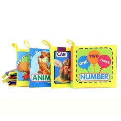 6 Pola Mainan Bayi Kain Lembut Buku-buku Bayi Perkembangan Kecerdasan Bayi Pendidikan Stroller Mainan Mainan Mainan Bayi 0-36 bulan