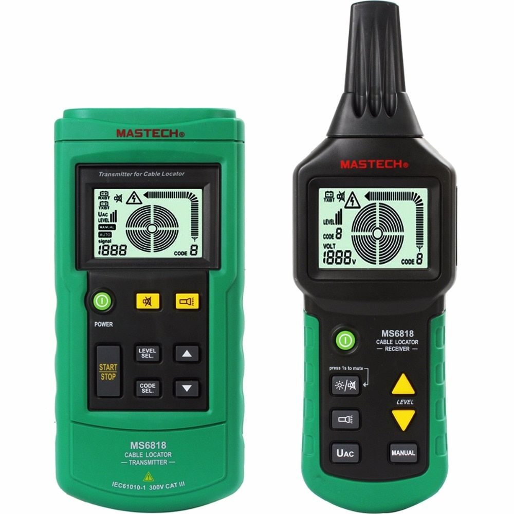 MASTECH MS6818 advanced wire tester tracker multi-function Cable detector 12~400V Pipe Locator Meter pressure transmitter