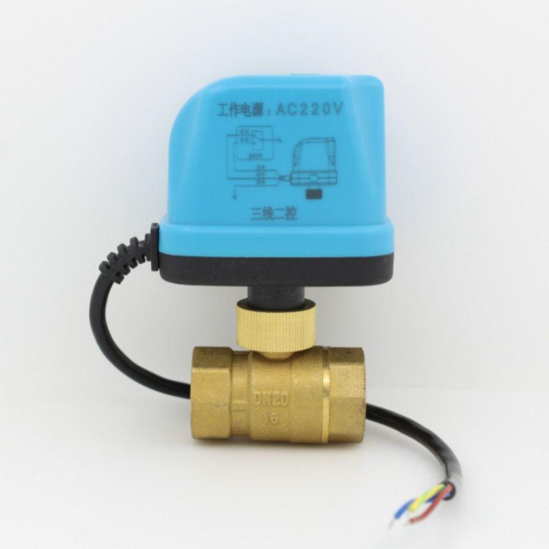 AC220V DC12V AC24V DC24V vanne à boisseau sphérique motorisée vanne à boisseau sphérique avec actionneur électrique DN15 DN20 DN25 DN32 DN40