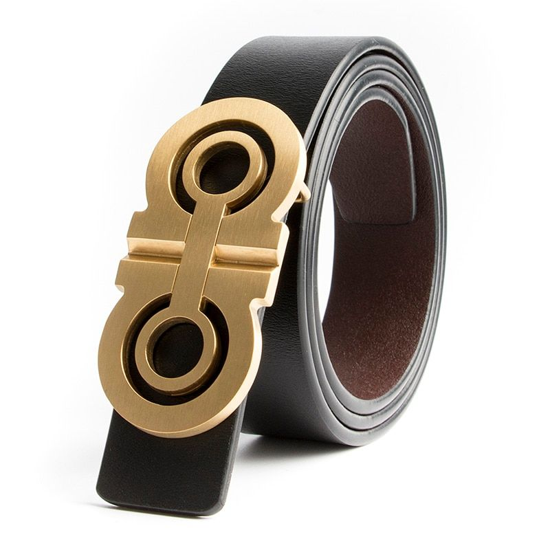 Luxury Solid Brass Designer H Belts Men High Quality Male Women Genuine Real Leather GG Double G Buckle Strap for Jeans