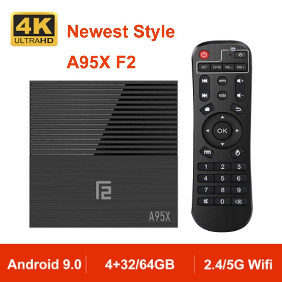 A95X F2 Android 9.0 TV BOX Quad Core 4 K Unterstützung 2,4G & 5G Dual Band WIFI RJ45 LAN USB3.0 HDMI Optische Android Box