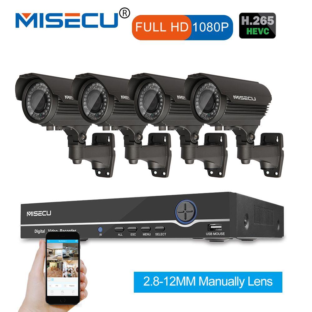 1080P 8CH HD NVR KIT real POE 48V 2MP 4pc POE module IP 42pcs IR 2.8-12mm Zoom lens Camera Waterproof P2P Onvi cctv system kit