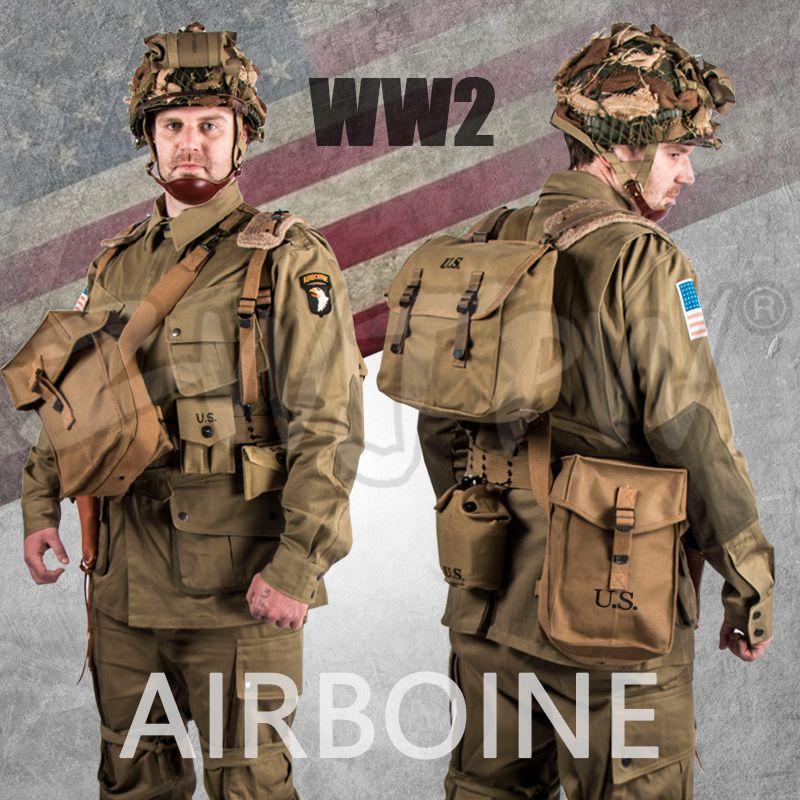 WW2 UNS BAND OF BROTHERS 101 LUFT SET FALLSCHIRMJÄGER ANZÜGE UNIFORM & AUSRÜSTUNG SET M42 QUALITÄT ARMY MILITARY