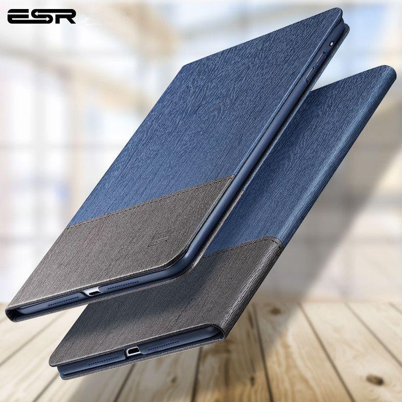 Case pour iPad 9.7 2017, ESR Simplicité PU En Cuir Smart Cover Folio Case Auto Wake Cover case pour New iPad 2017 Libération 9.7 pouce