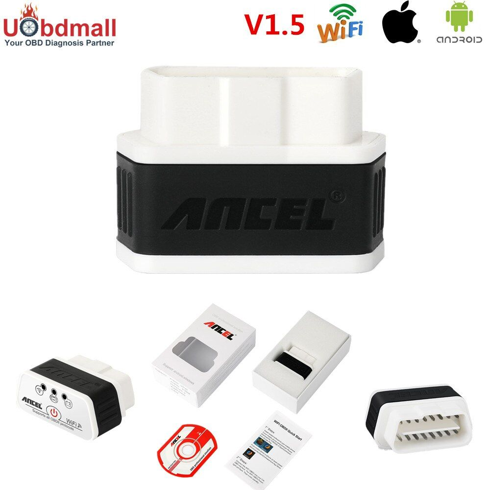 Ancel iCar ELM327 Wifi OBD 2 Diagnostic Scanner Adapter iCar Elm 327 WIFI Automotive Scanner for Windows Android ios iPhone iPad