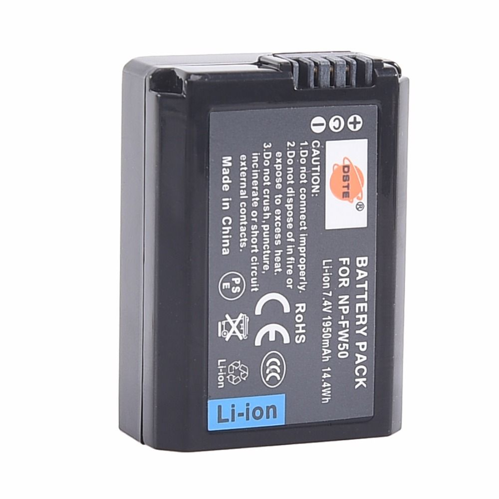 DSTE 50x NP-FW50 Battery for Sony NEX-6 Camera