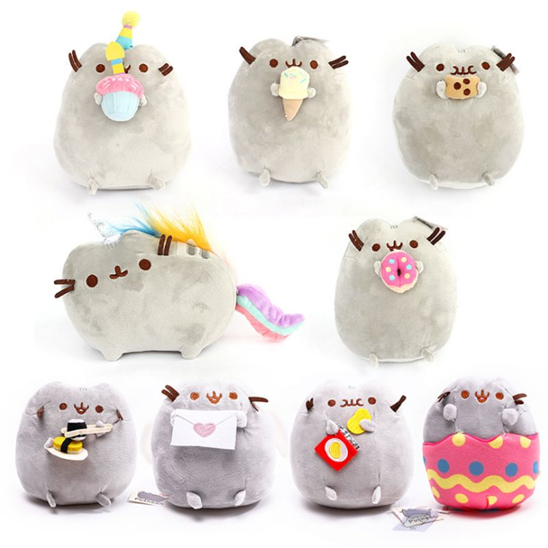 15cm Sushi Cat Plush Toys Donuts Cat Cookie Icecream Rainbow Cake Style Plush Soft Stuffed Animals Toys for Children Kids Gift