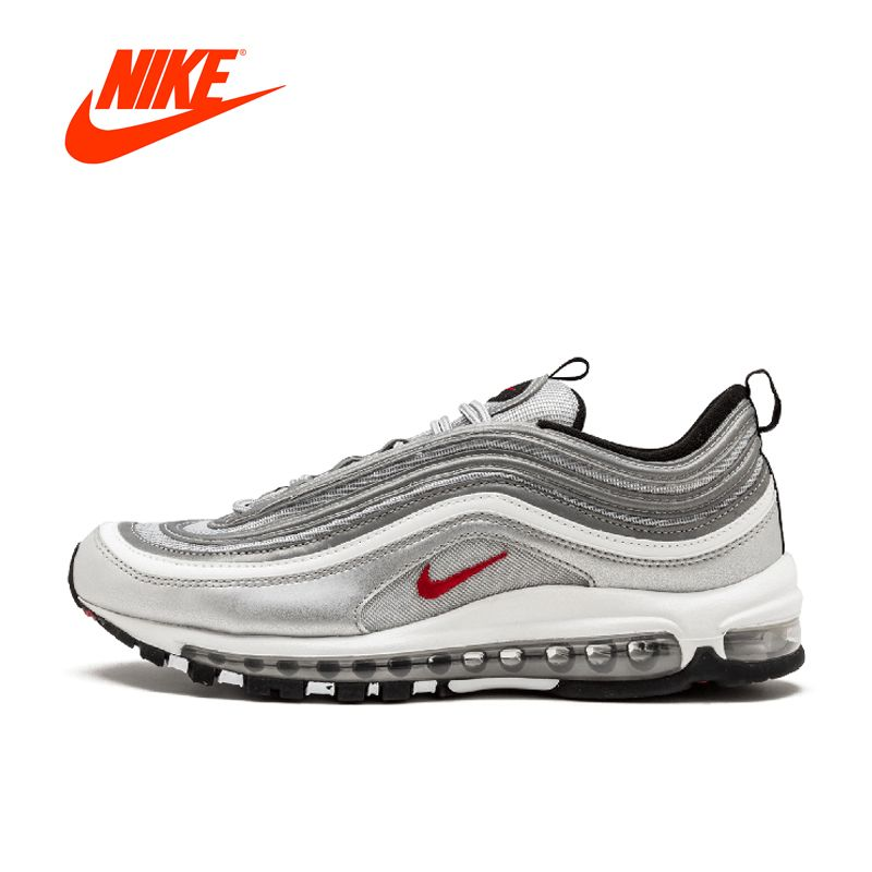 Offizielle Neue Ankunft Original Nike Air Max 97 OG QS RELEASE Laufende Schuhe der Männer Breathable Sport Turnschuhe Im Freien Sportlich