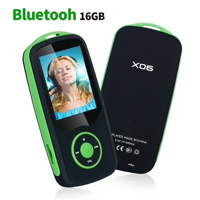 2018 MP4 Player with Bluetooth4.0 16GB Music Player Support up to 64GB with Voice Recording, FM Radio, E-book Audio Video Player