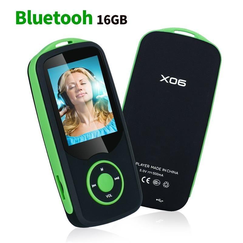 Mp4 Player mit Bluetooth 16 GB Musik-player Unterstützung bis zu 64 GB, mit Sprachaufzeichnung, FM Radio, E-book Audio Video Player