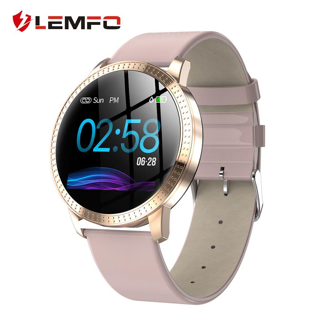 LEMFO Original Women Smart Watch Heart Rate Blood Pressure Monitor Message Call Reminder Pedometer Calorie Smartwatch Men