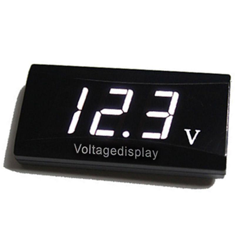 MAYITR 12V LED Digital Display Car Mini Voltage Volt Meter For Auto Motorcycle Voltmeter Red/Blue/White Color