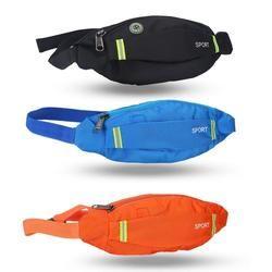 Unisex Menjalankan Tas Nylon Wareproof Outdoor Olahraga Latihan Gym Pinggang Pouch Camping Hiking Bersepeda Tas Dada