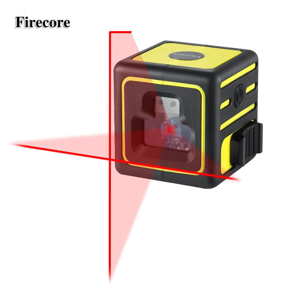 Firecore 212A 2 Lines Laser Level Red Cross Lines Self-leveling Horizontal and Vertical Cross-Line Mini Size