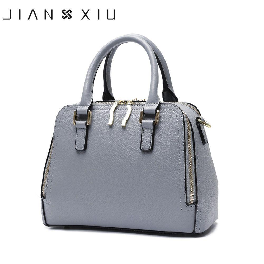 JIANXIU Brand Women Split Leather Handbags Female Top-hand Bag Double Zipper Design Shoulder Crossbody Bags 2018 Small Tote Bag