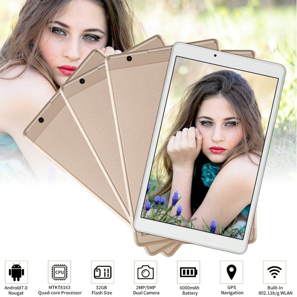 Hohe Geschwindigkeit GPS smart 10,1 zoll Quad Core 32 gb Tablet Aoson R103 Android 7.0 Tablet 2 gb RAM MTK8163 1280*800 Wifi PAD Metall Fall