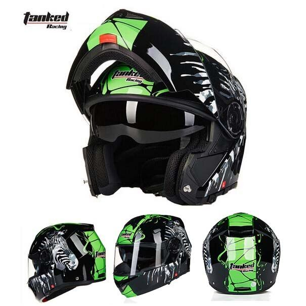 Tanked Racking T270 Flip up motorcycle helmet motorbike flip up moto off road motocross helmets safety cap
