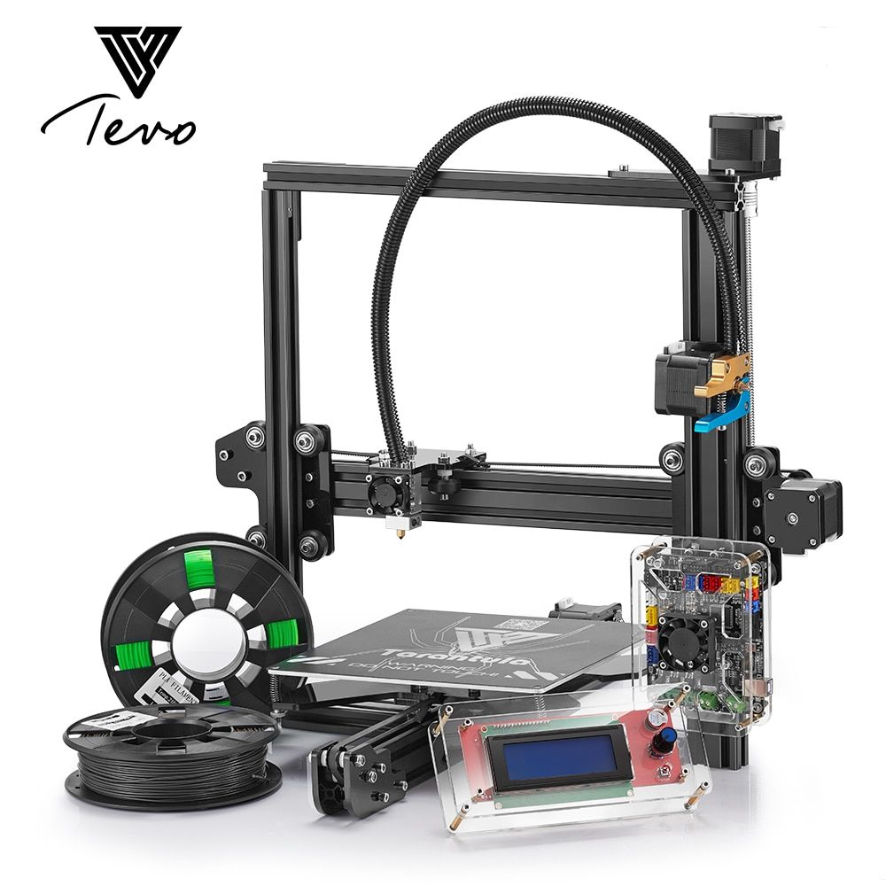 Classic TEVO Tarantula I3 Aluminium Extrusion 3D Printer kit 3d printing with 2 Rolls Filament SD card Titan Extruder As Gift