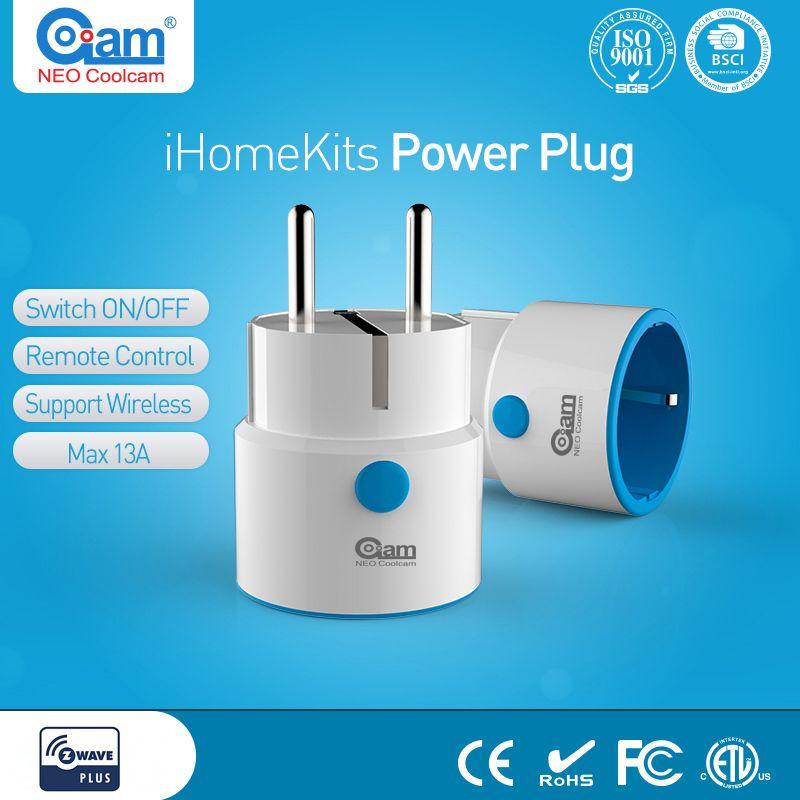 NEO Coolcam Z-WAVE PLUS NAS-WR01ZE EU Smart Power Plug Socket Home Automation Alarm System Home Z Wave 868.4MHz Video Frequency