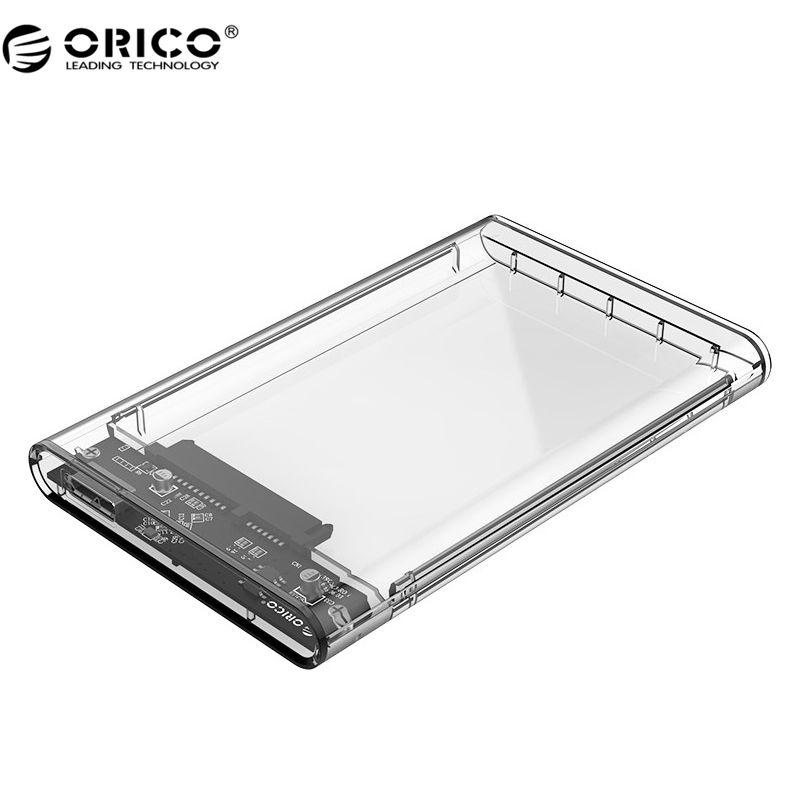 ORICO 2139U3 Festplattengehäuse 2,5 zoll Transparent USB3.0 Festplattengehäuse Unterstützung UASP Protokoll