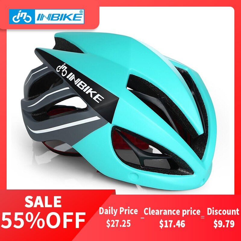 INBIKE Cycling Helmet Bicycle Helmet Magnetic <font><b>Goggles</b></font> Mountain Road Bike Helmets Sunglasses Cycling Glasses 3 Lens Bike Helmet