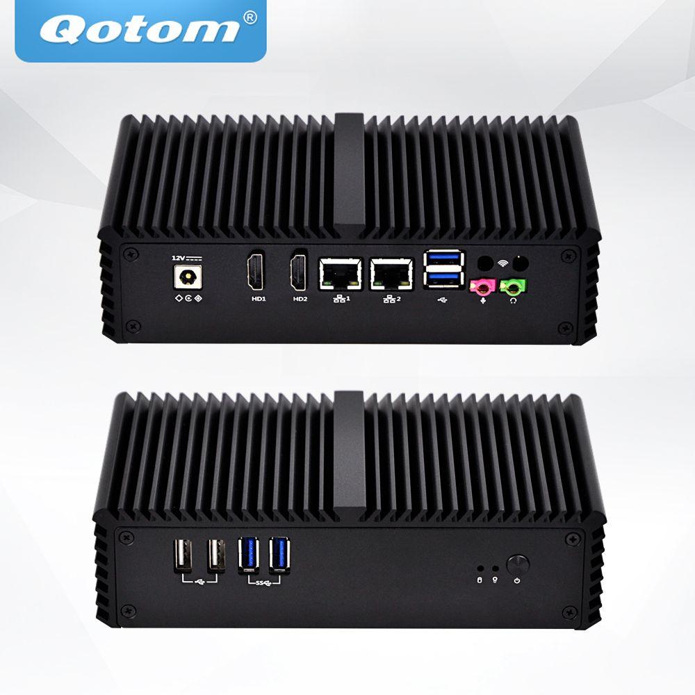 QOTOM Fanless Mini PC with Core i5-4300Y Processor, Dual core up to 2.3 GHz, Wireless Mini PC Core i5