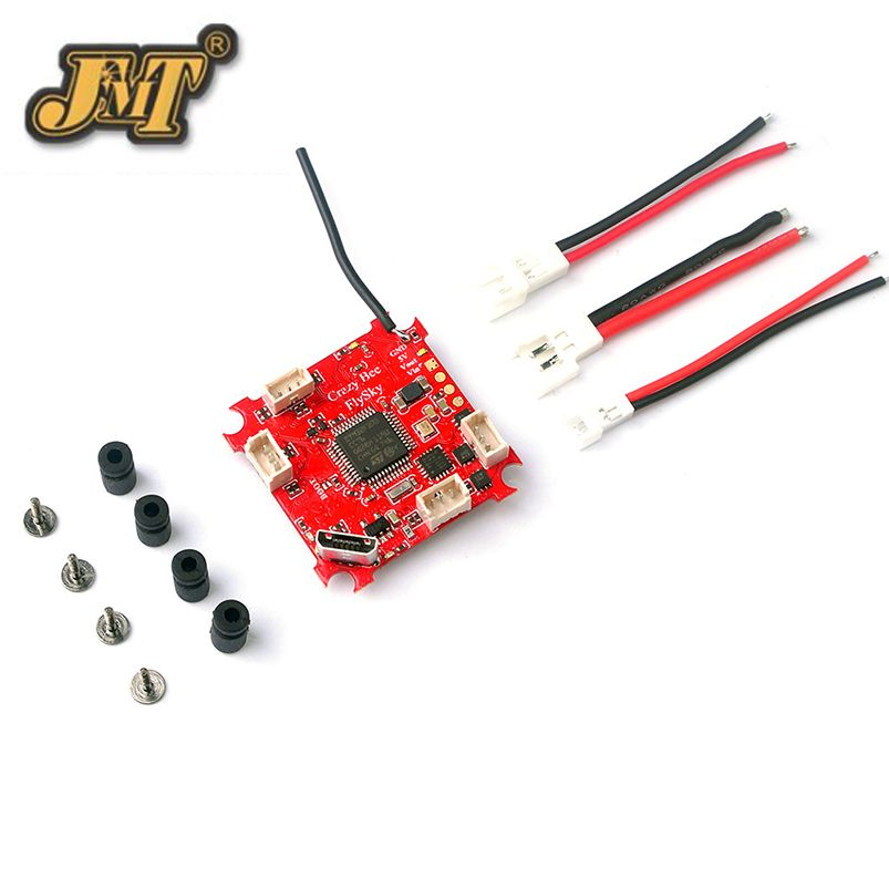 JMT 4 IN 1 Crazybee F3 Flight Controller OSD Current Meter 5A 1S Blheli_S ESC Compatible Frsky/Flysky Receiver for Whoop Drone