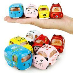 Kawaii!!!1:64 Mini Alloy Car Model 1Pc Cartoon Elephant Cat Bear Dog Panda Inertia Car Children Education Toys Birthday Gifts