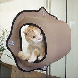 Venta caliente ventana gato cama tumbona caliente cama del animal doméstico para el descanso y gato casa suave y cómodo ferret Cage