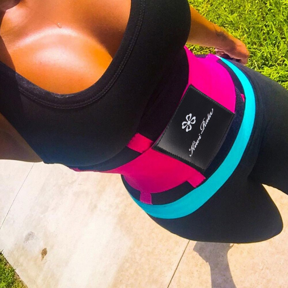 KIWI RATA'S Fitness Belt Xtreme Power(original) Pink,Blue,Black Thermo Shaper Waist Trainer Corset Postpartum Belt