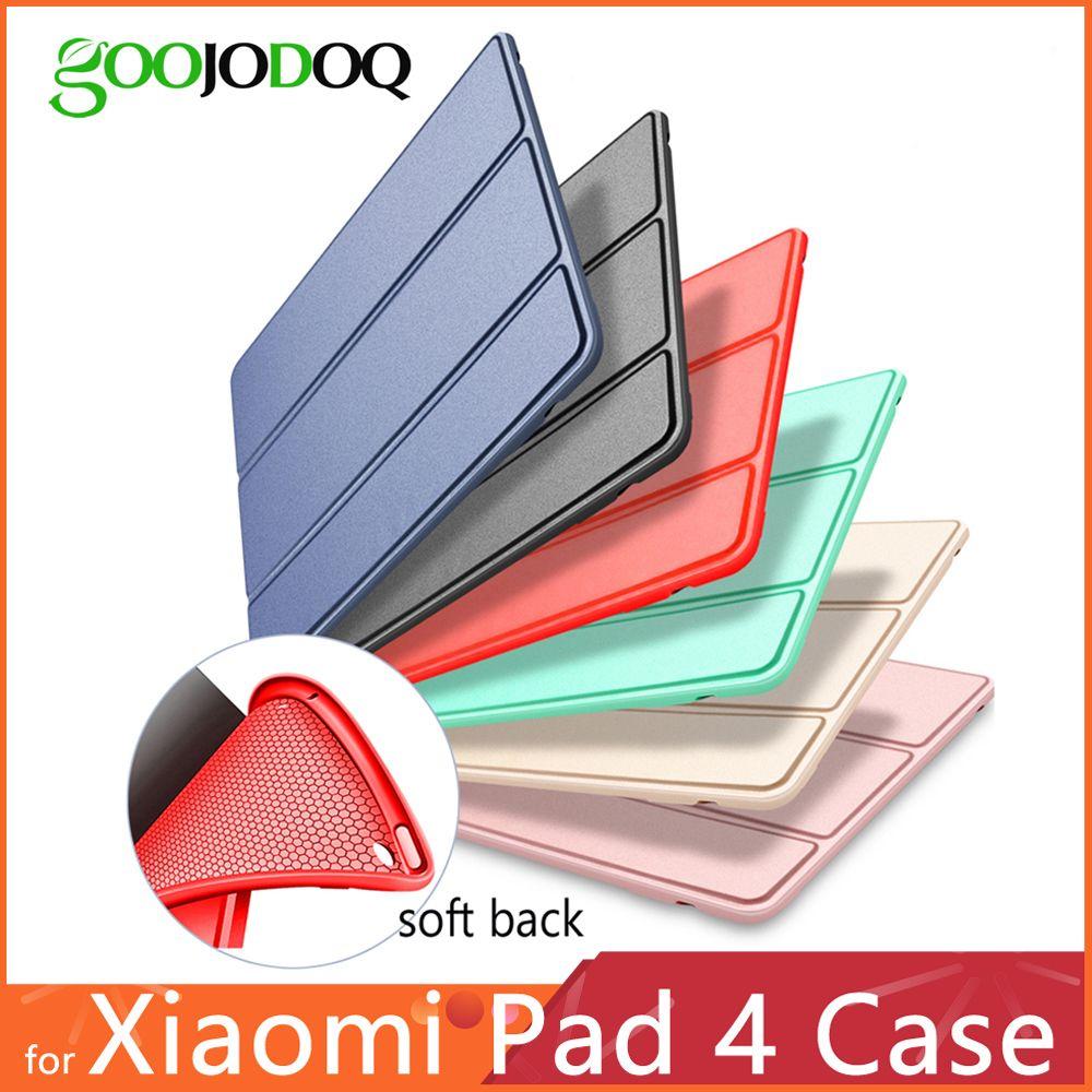 Pour Xiao mi Pad 4, étui GOOJODOQ mi Pad4 étui en cuir PU Silicone softantichoc mince mince couverture pour Xiao mi mi pad 4 étui Funda