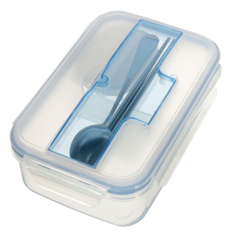 Высокая Ёмкость Экологично открытый Портативный микроволновая печь Коробки для обедов с миска Палочки Китайские Ложка Еда контейнеры
