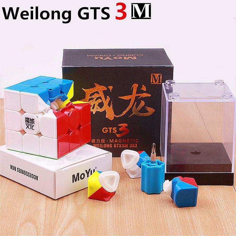 3x3x3 moyu weilong gts v2 M 3M magnetic puzzle <font><b>magic</b></font> gts2M speed cube gts 2m magnets cubo magico profissional toys for children