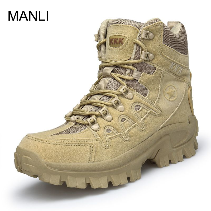 MANLI 2018 Outdoor Men Hiking Climbing Shoes DELTA Professional Waterproof Hiking Boots Tactical Camping Mountain Sports Sneaker