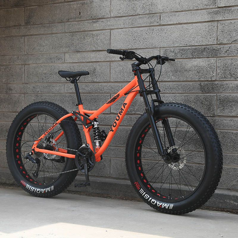 Neue ankunft 7/21/24/27 geschwindigkeiten mountainbike 26 zoll doppel disc bremse fett bike 26x4,0