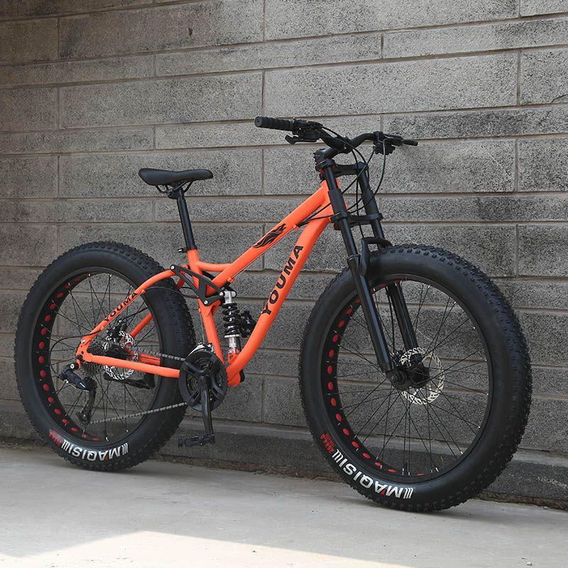 New arrival 7/21/24/27 speeds mountain bike 26 inch double disc brake fat bike 26x4.0