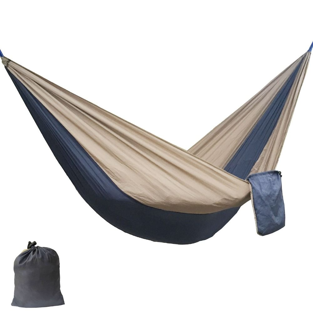 Solid Color Nylon Parachute Hammock  Camping Survival garden swing Leisure travel  Portable outdoor furniture