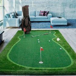 PGM Golf Putting Green Rumput Lantai Praktek Karet Buatan Golf Mat Pelatihan Chippin Mengemudi Memukul Golf Sintetis GOLF Rumput