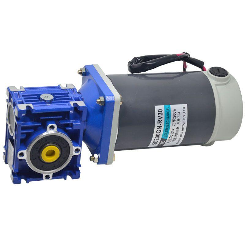200W DC getriebe motor RV30 niedriger geschwindigkeit motor mit selbst-verriegelung kann passen sie die geschwindigkeit motor 12V 24V miniatur motor