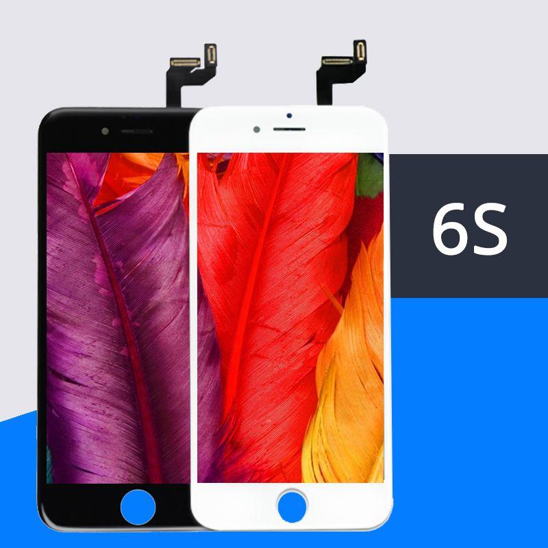 Bon 3D tactile 10 pièces qualité AAA pour iPhone 6 S écran LCD avec tactile numériseur affichage assemblée remplacement blanc noir gratuit DHL