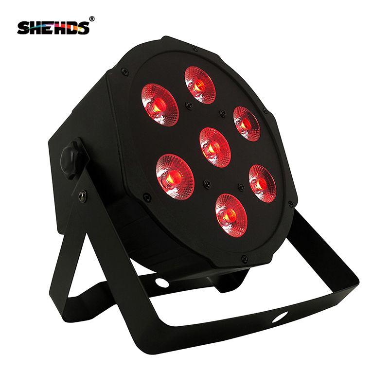 Livraison gratuite et rapide vente chaude bonne qualité plat led par 7x12w rgbw quad étape lavage lumière lampe à led lustre