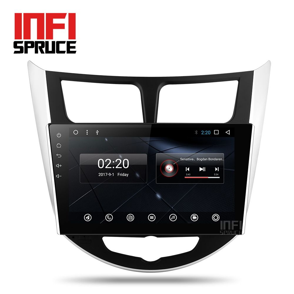 Android 7.1 auto dvd für Hyundai accent Solaris Verna i25 mit gps-navigation radio video auto stereo multimedia player