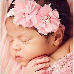 TIPPA cheveux accessoire mousseline de soie cristal fascinateur bebe menina fleur Bandeaux bébé bandeau filles chapeaux nouveau-né en bas âge