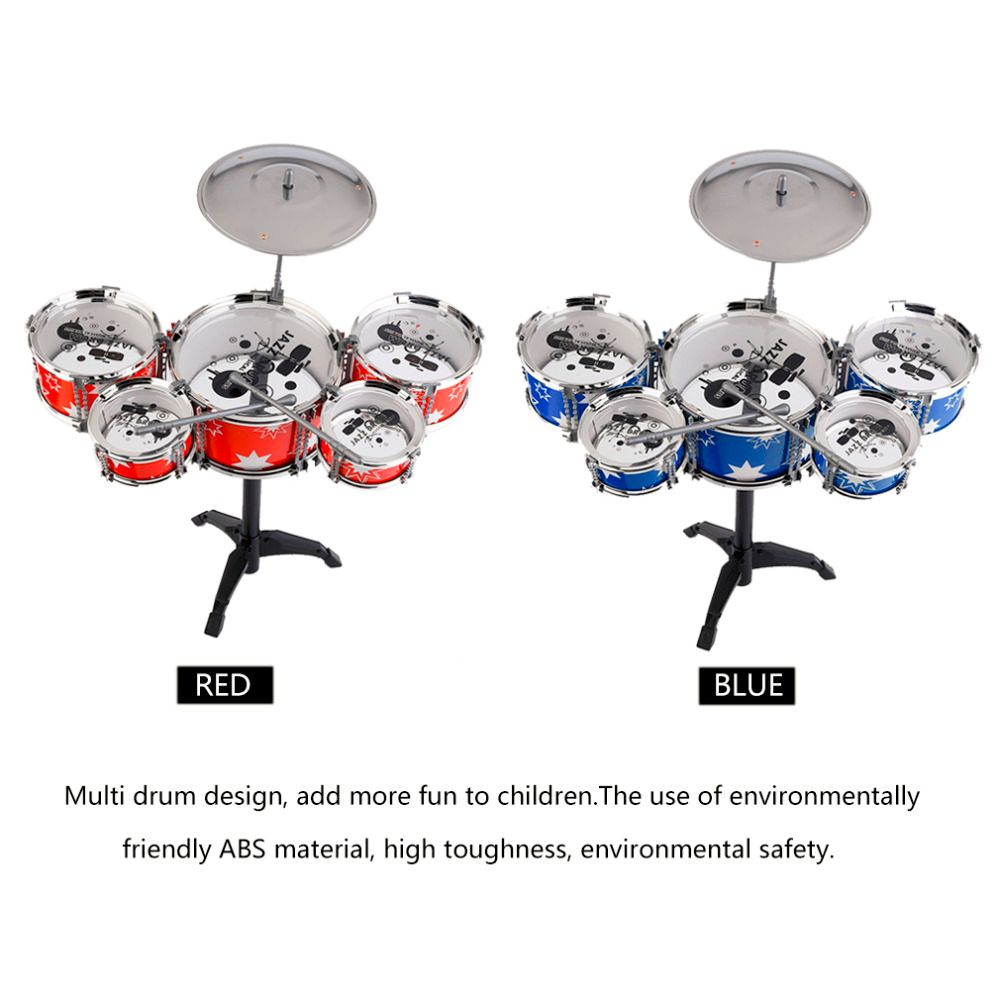 Plug Size Lightweight Mini Children Kids Practicing Drum Instrument Portable ABS Stainless Steel Drum Set With Chair from Ru