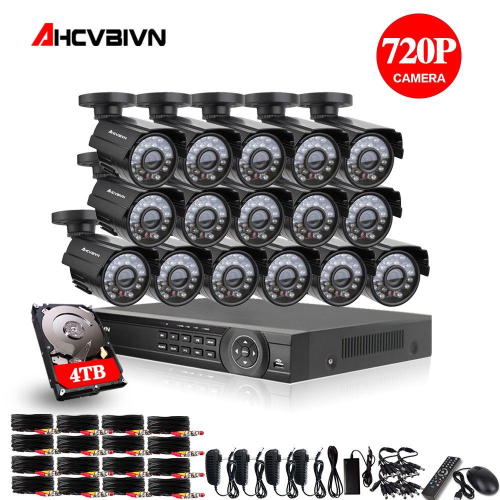 16CH 1080 P HDMI DVR 2000TVL 720 P HD Outdoor Überwachung Sicherheit Kamera System 16 Kanal CCTV DVR Kit AHD kamera Set 4 TB HDD