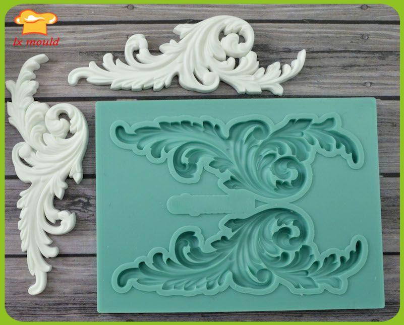 LXYY Moulds  high-end custom fondant silicone cake mold  mold dry Pace Art  Vintage Frame frame gem