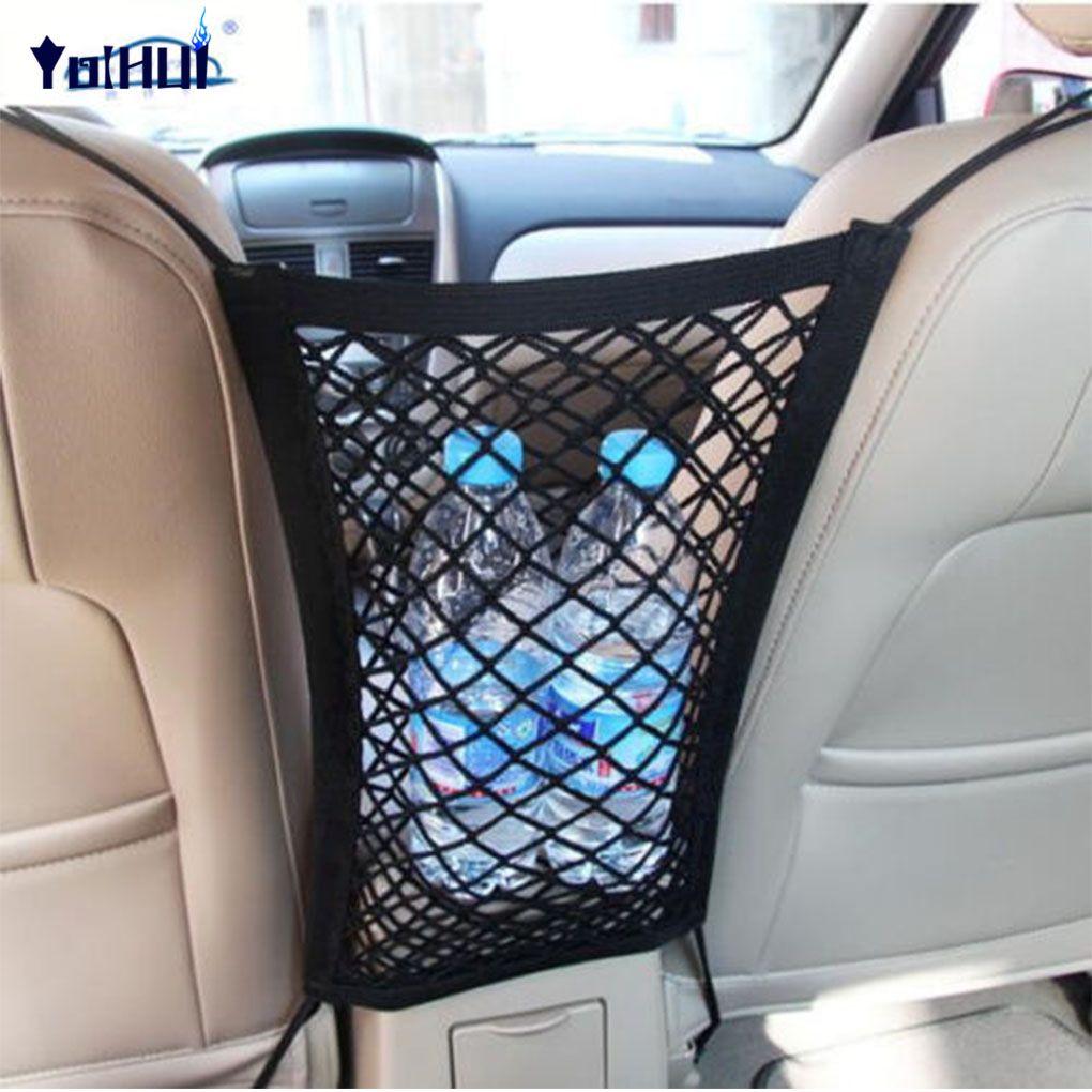Strong Elastic Car Mesh Net Bag Between Car Organizer Seat Back Storage Bag Luggage Holder Pocket