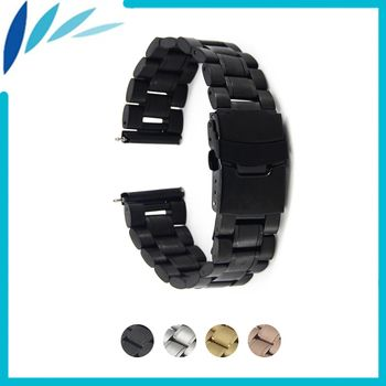 Stainless Steel Watch Band 24mm for Sony Smartwatch 2 SW2 Safety Clasp Strap Loop Belt Bracelet Black Rose Gold Silver + Tool