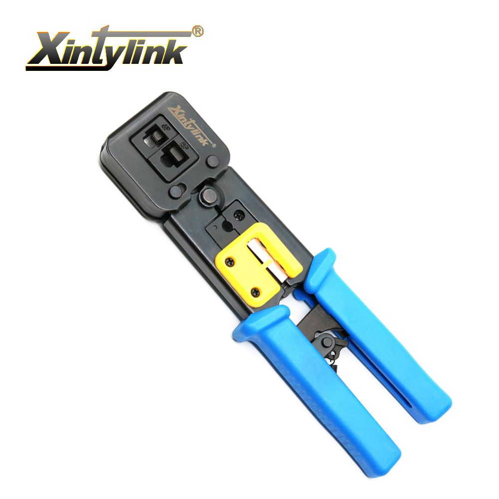 xintylink EZ rj45 crimper hand network tools pliers rj12 cat5 cat6 8p8c Cable Stripper pressing clamp tongs clip multi function